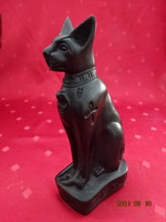 Figural statue of an Egyptian holy cat, shepherd - height 15.5 cm. He has!