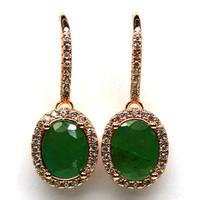 Language emerald 925 silver fulbevalo