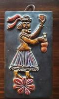 Mázas kerámia falikép