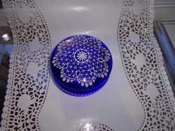 Parade antique glass- lace glass with bonbonier- hand painting