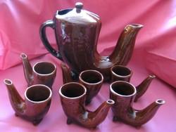Retro drink pipe glove shatra bulgarian ceramic set