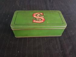 Sép régi Singer varrógép pléh doboza