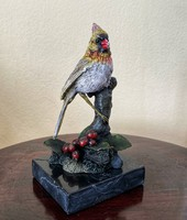 Viennese bronze painted bird