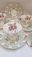 5 pcs English bone china coffee cup with saucer