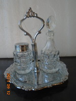 Art deco oily or vinegar + salt squeezing bottle offering holder in beautiful condition