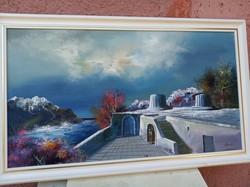 ADILOV  KABUL,  Görög táj  olajfestménye