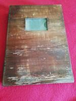 Régi könyv alakú fadoboz