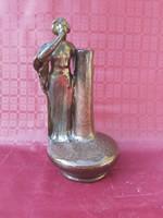 1 ft os aukció! Zsolnay szecessziós váza, körpecsétes jelzéssel.