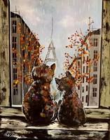 Pető bell ++ 50x40 wonderful paris ++ modern abstract ++ acrylic painting