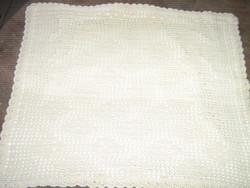 Beautiful handmade crochet ecru cushion
