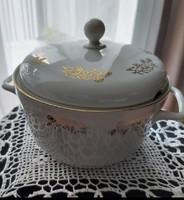 Mz-Moritz Zdekauer Czech/Czechoslovak/50+years old porcelain soup plate with gilded  pattern