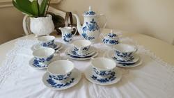 Szép kobaltkék,virágos Rosenthal GDR.teás-kávéskészlet