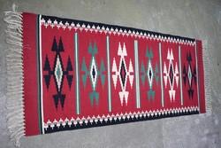 Toronto kilim rug, hand woven 167 x 73 cm + fringe