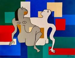 Pető csenge ++ 80x60 erotica ++ modern figural ++ acrylic painting