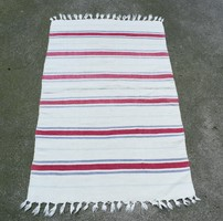 Old kilim hand woven rug 86 x 56 cm + fringe