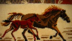 Retro  falvédő   ló  és csikó suba