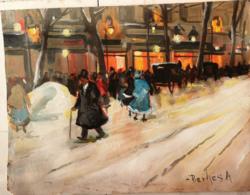 Antal Berkes: street scene