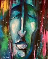 Pető bell ++ 50x40 deep dream ++ modern figural ++ acrylic painting