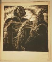 Baja Benedek (1893-1953) : Az ős Kaján / Ady illusztráció