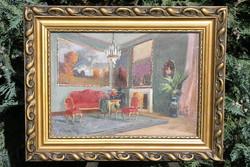 István Burghardt Bélaváry (1864-1933) - room interior