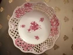 Áttört Apponyi mintás dísz tányér. 21 cm átmérőjű