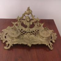 Baroque bronze inkwell