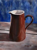 Brown jug - acrylic painting