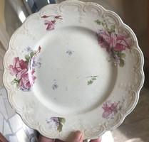 Fajansz, Sarreguemines rózsás tányér