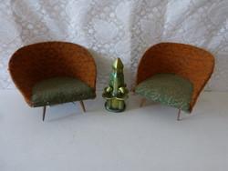 2 pcs retro mini armchair.