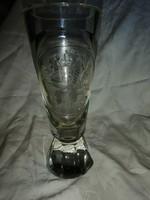 Csiszolt üveg sörös pohár