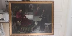 Charles of Svoboda - painting, damaged