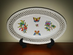 Herend vbo victoria wicker serving bowl