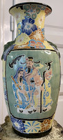 About one forint - Chinese, large, hand-painted, embossed vase