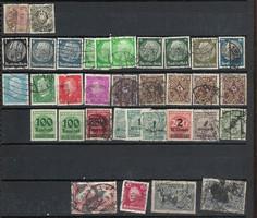34 darab német harmadik birodalom bélyeg Hindenburg fejes korai császárság stb Deutsches Reich