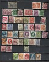 45 darab német harmadik birodalom bélyeg weimar köztársaság korai császárság stb Deutsches Reich
