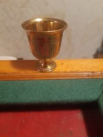 Heavy old engraved copper cup