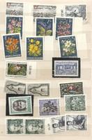 21 darab postatiszta osztrák bélyeg Ausztria sorok darabok csillag csillag KIÁRUSÍTÁS