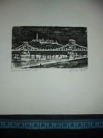 Béla Gönczi etching