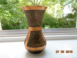 Antique chiselled red copper Turkish vase