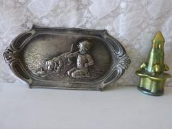 Art Nouveau wall bowl / Metal.