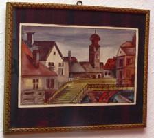 P. Emődi Etelka akvarell