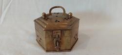 Square copper box, jewelry holder