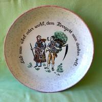 Német, antik porcelán dísztányér, fali tányér, asztali tál