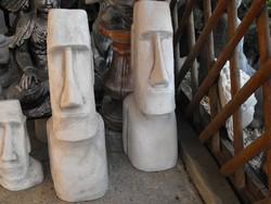 Moai Easter Island Head 1pc 76cm Minimal or Japanese Garden Antifreeze Artificial Stone Sculpture