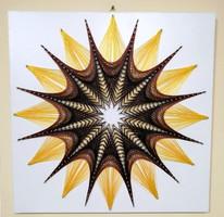 String Art/Fonalgrafika/Mandala: Fali kép K01-01-50X50