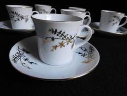 Antique thun coffee set (mocha) with autumn / winter decor