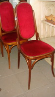 Six high-backed thonett chairs.