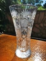Old lead crystal vase