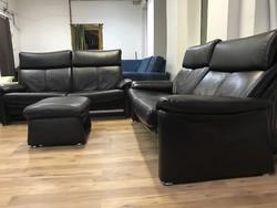 Dark brown leather set
