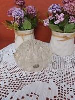 Bohemia glass ibebana in vase or pen holder